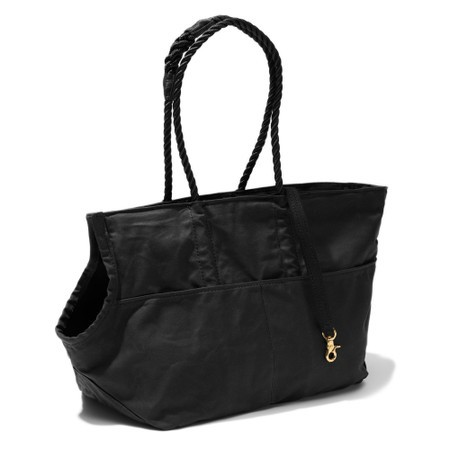 Found my animal Hundetasche Black Waxed Cotton Canvas