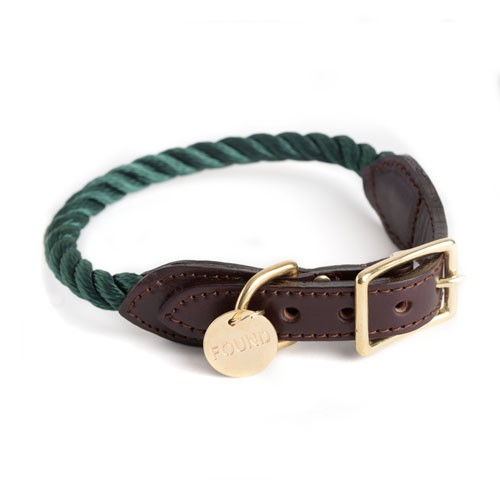 Found my animal Halsband Rope Hunter Green