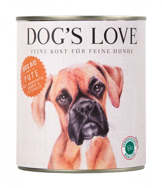 Dogs Love Nassfutter BIO Pute