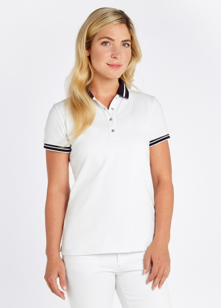 Dubarry of Ireland Damen Poloshirt Parkmore Weiss