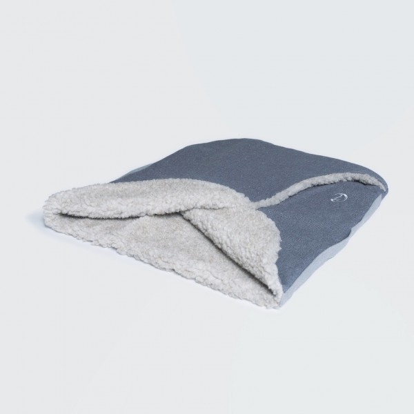 Cloud7 Hundeschlafsack Nest Tweed Winterblue