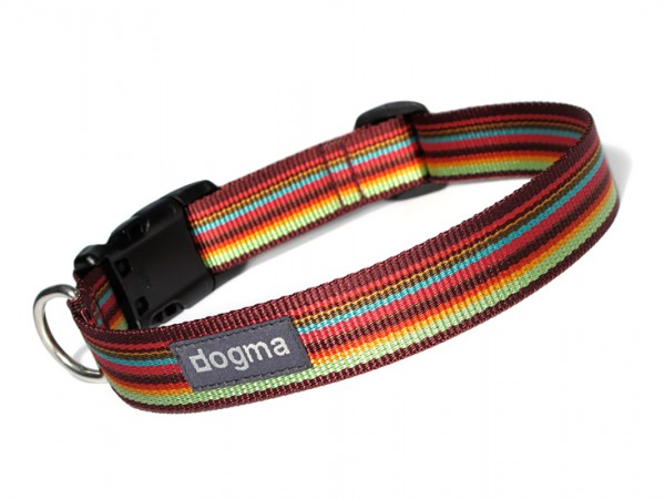 dogma Hundehalsband stripes bordeauxbunt