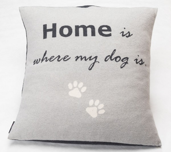 Hundekissen 'Home is where my dog is' 70x70