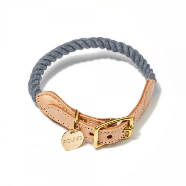 Found my animal Halsband Rope Grey up-cycled