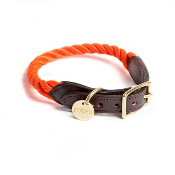 Found my animal Halsband Rope Orange