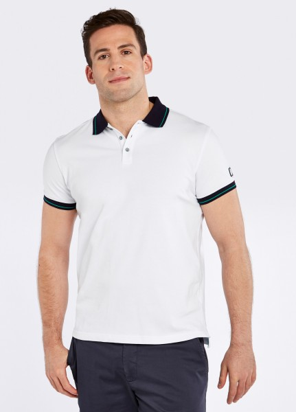 Dubarry of Ireland Herren Poloshirt Grangeford Weiss