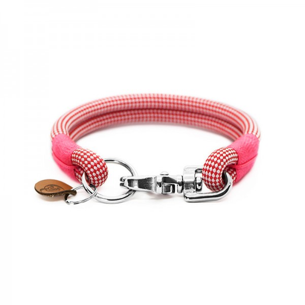 Q3N Halsband Sylter Strick Vichy Strawberry