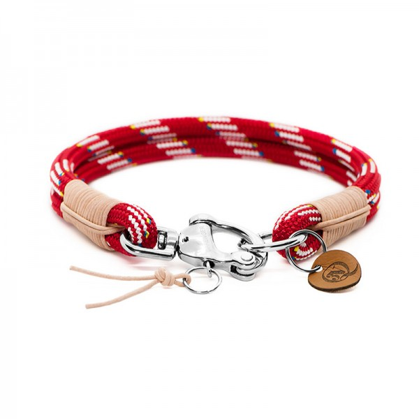 Q3N Halsband Sylter Strick Deluxe Rot