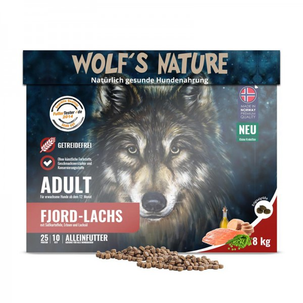 "Wolf's Nature Trockenfutter Fjord Lachs ""Minis"""