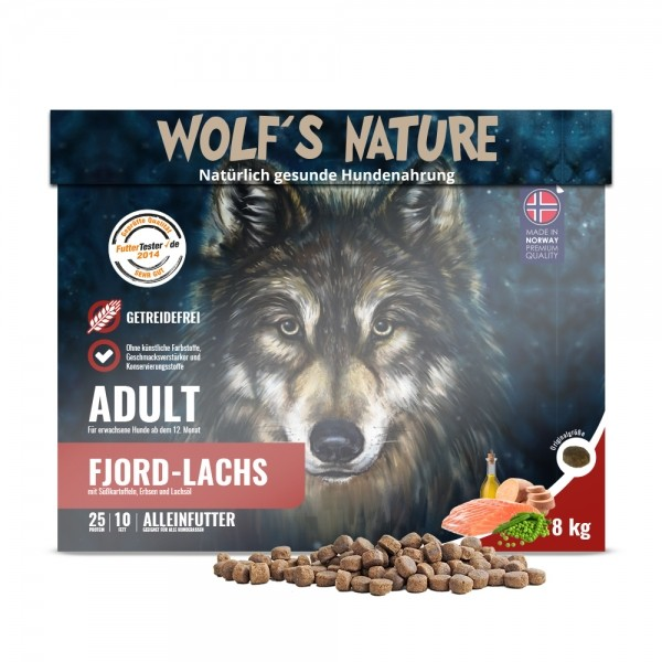 Wolf's Nature Trockenfutter Fjord Lachs