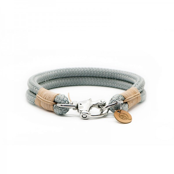 Q3N Halsband Sylter Strick Deluxe Grau