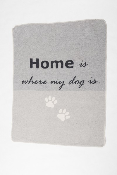 Hundedecke 'Home is where my dog is' 70x90
