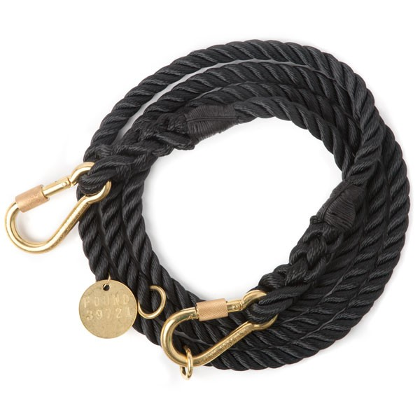 Found my animal Verstellleine Rope Schwarz