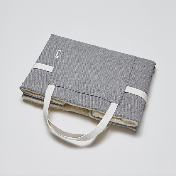 Cloud7 Travel Bed Tweed Grey/Schafwolle