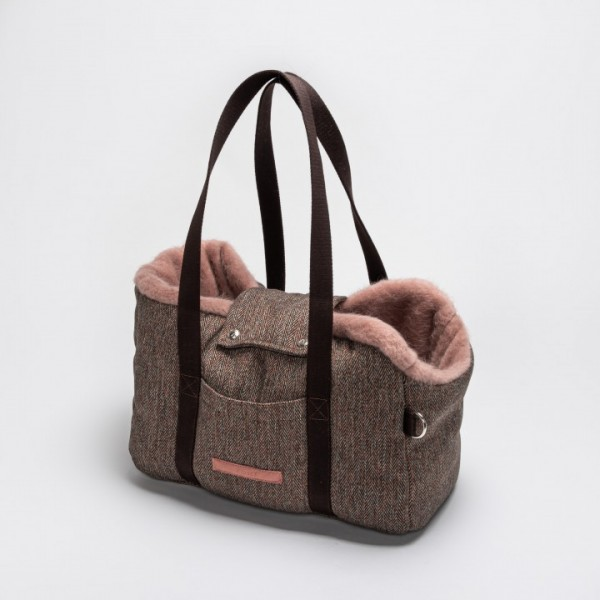 Cloud7 Hundetasche Milano Herringbone Brown